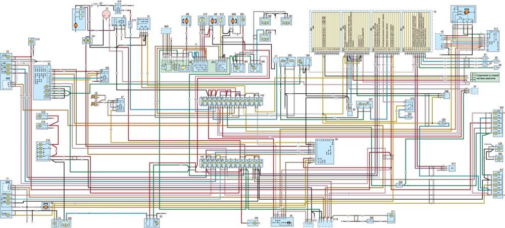 2) Схема электропроводки